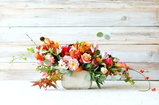 elegante herbstgestecke ideen herbstblumen