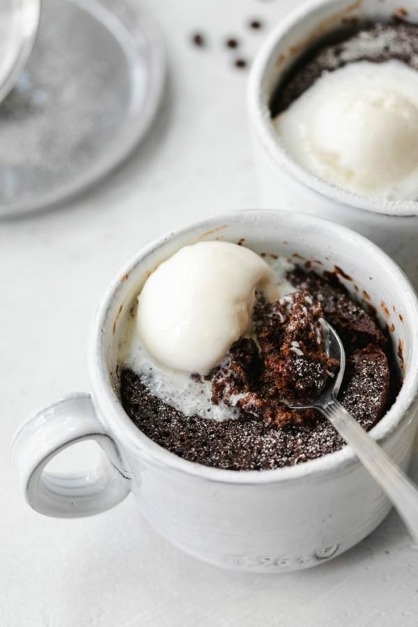 espresso schokolade tassenkuchen ohne ei