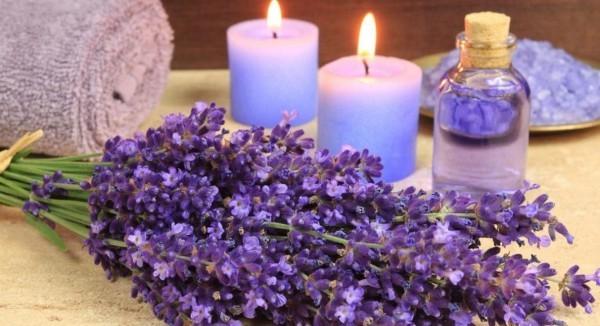 Υγιεινό τρόπο ζωής λεβάντας υπέροχα κεριά