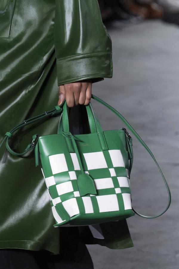 grün weißes modell - damentaschen