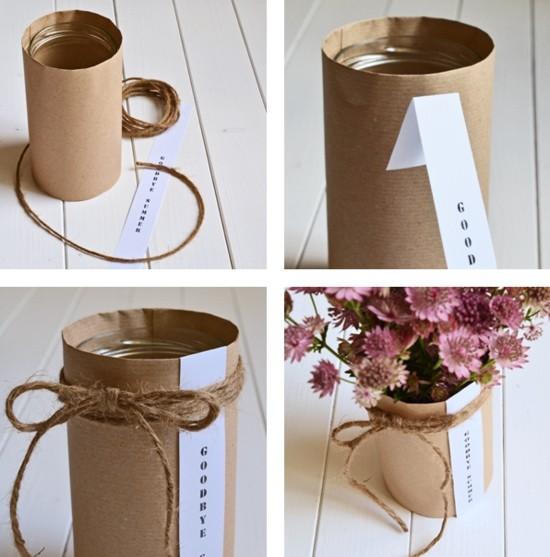 herbstdeko selber machen upcycling vase