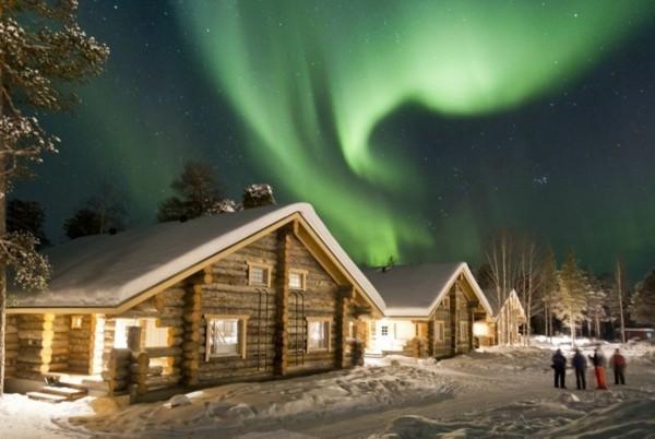 nellim dorf finnland nordlichter sehen