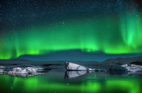 nordlichter sehen Jökulsárlón island