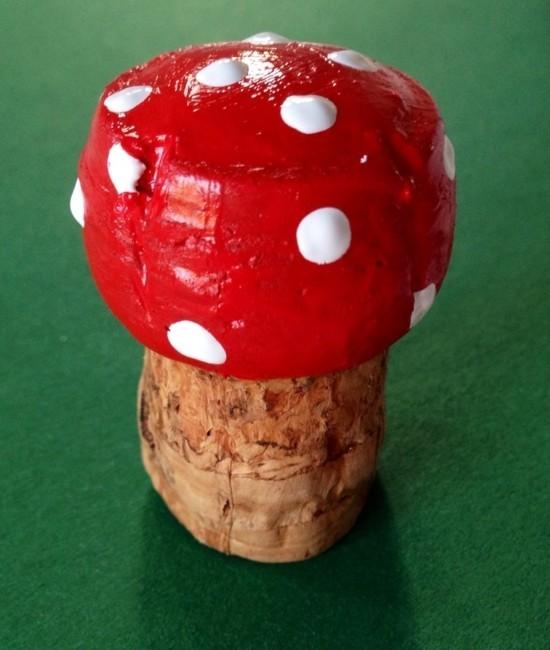 pilze basteln aus korken herbstdeko selber machen