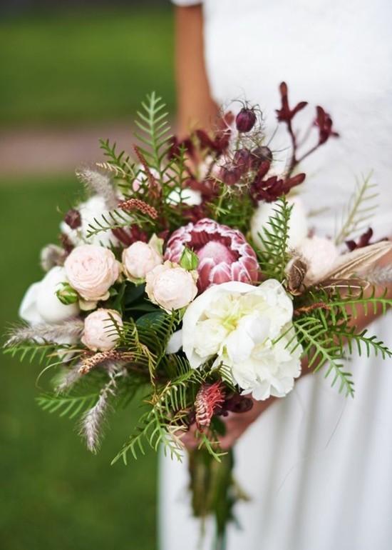 rosen zuckerbüsche brautstrauß herbst
