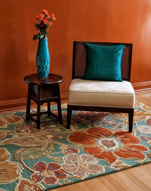 vase in blau deko herbts idee