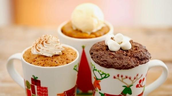 weihnachtsmenü ideen tassenkuchen ohne ei zubereiten