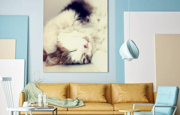 wohnzimmer einrichten wandgestaltung gallery print