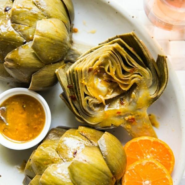 Artischocken zubereiten Rezept mit Orangen Artischocken gesund