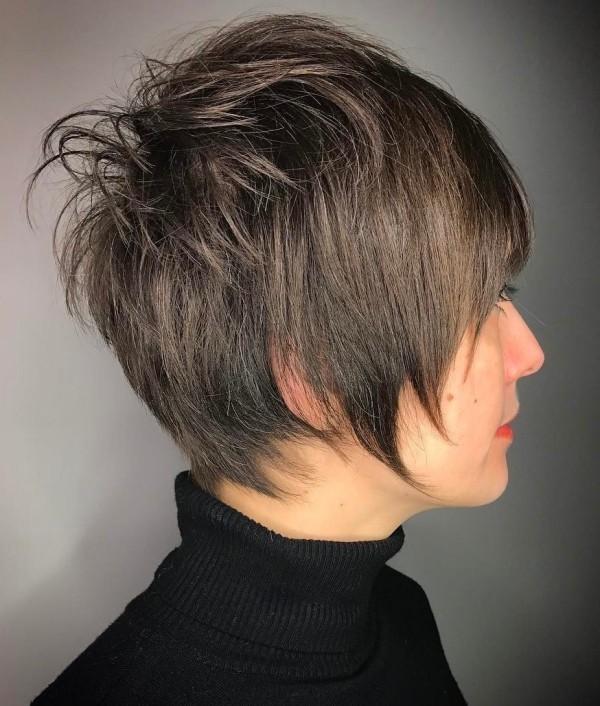 Aschengraue Haare - frisuren dünnes haar