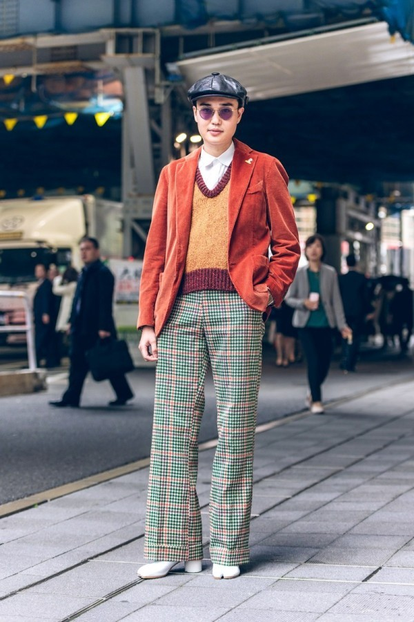 Beige Oberteil - tolle Idee - Männer Trends - Tokyo Fashion Week - Modetrends Street Fashion