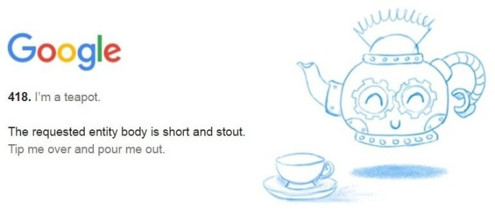 Die besten Google Easter Eggs I am a teapon witz