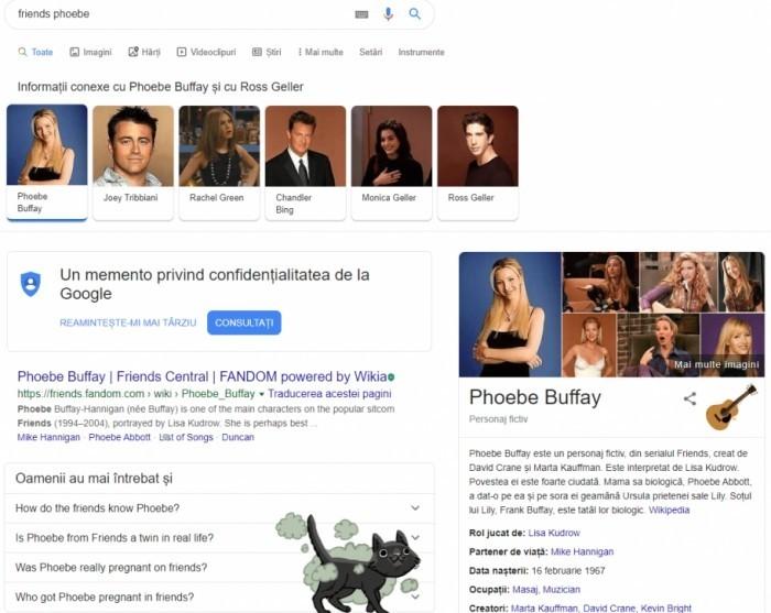 Die besten Google Easter Eggs phoebe buffay witzig firends