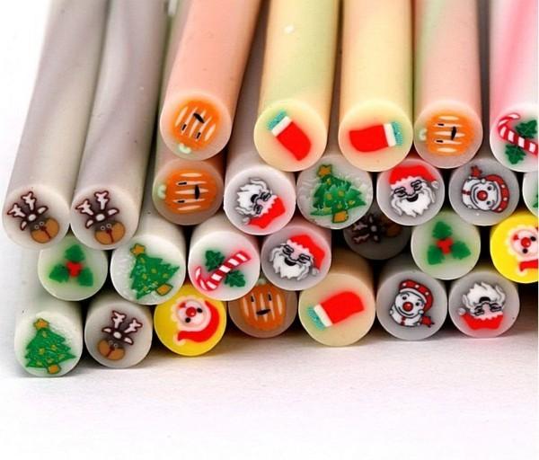 Fimo Ideen DIY Weihnachtsdeko selber machen Motive