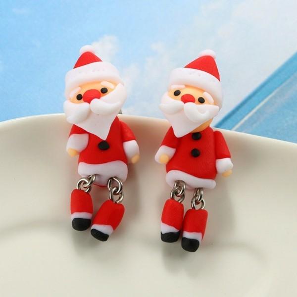 Fimo Ideen DIY Weihnachtsdeko selber machen Weihnachtsmann