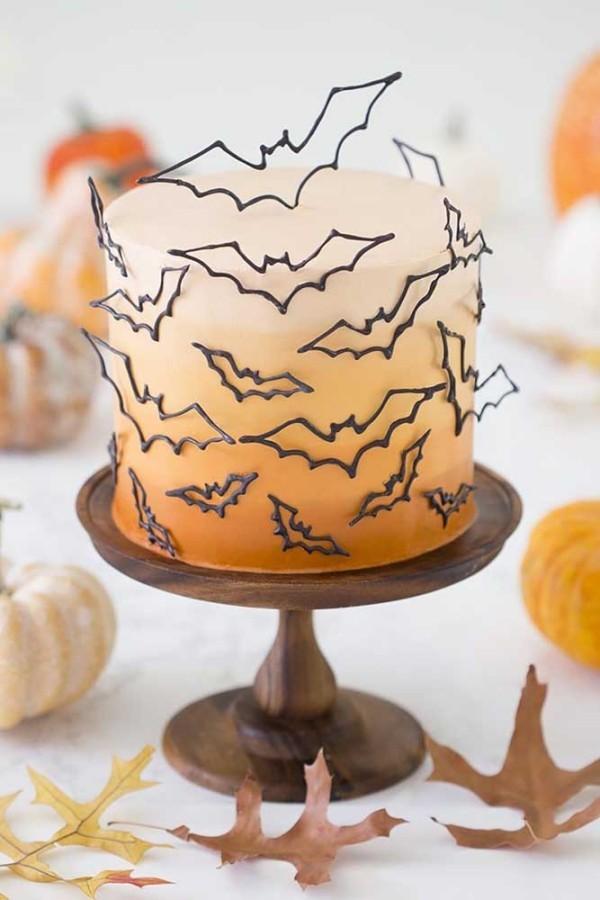 Fledermäuse - Halloween Kuchen
