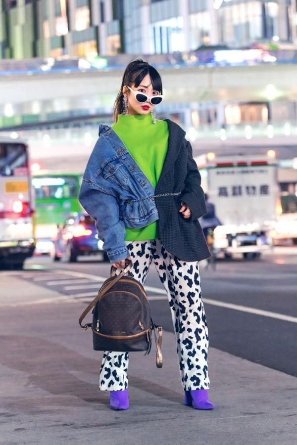 Grün Blau und Schwarz - Modetrends Street Fashion
