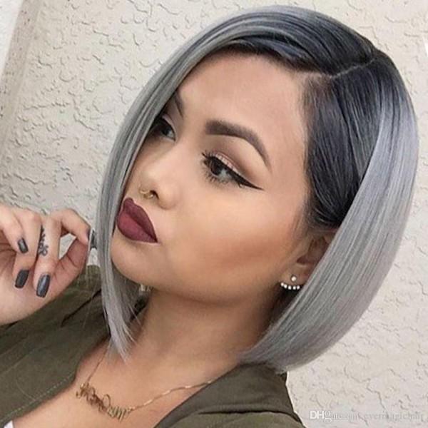 Haare grau färben - aktueller Bob