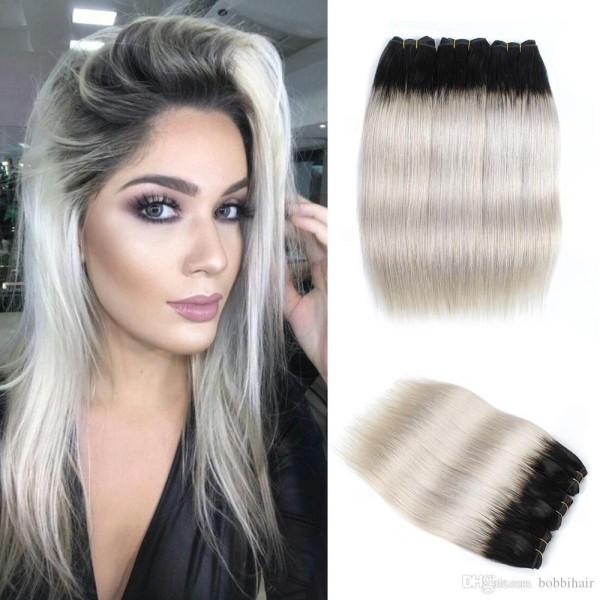Haare grau färben - starkter Kontrast
