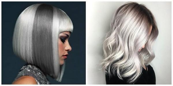 Haare grau färben - tolle graue Idee