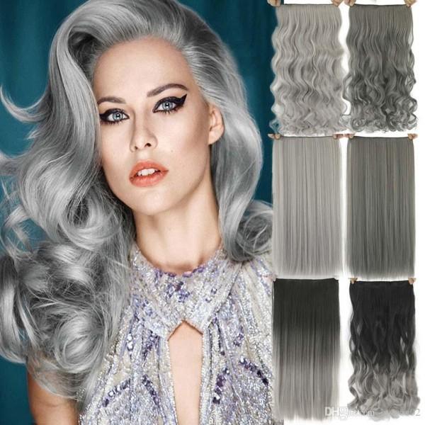 Haare grau färben viele Varianten
