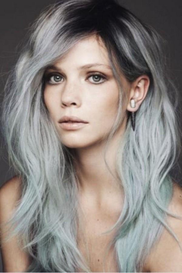 Haare grau färben wunderhscön und romantisch