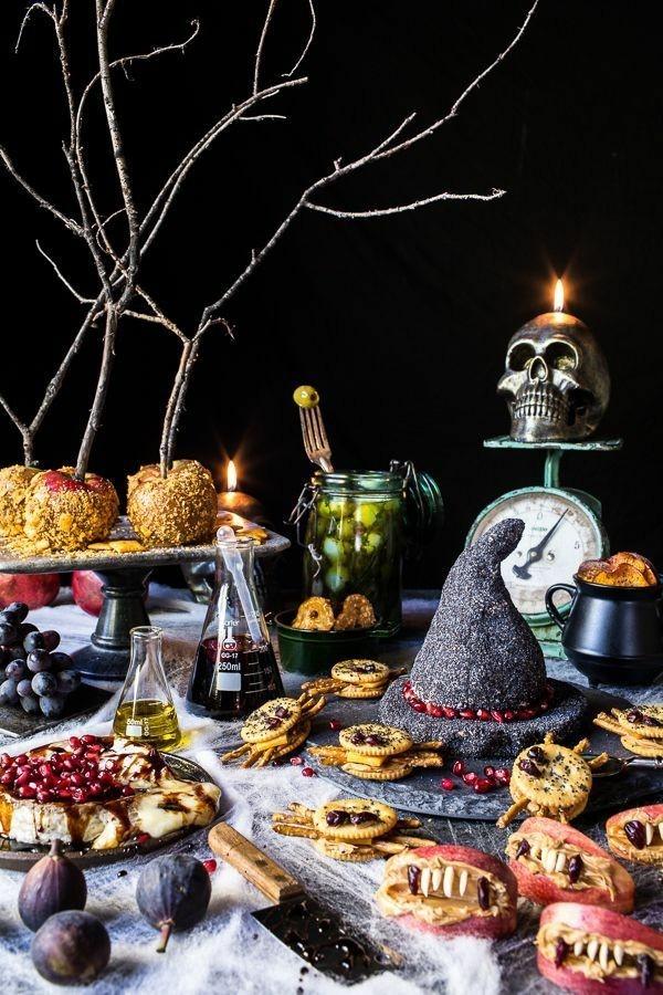 Halloween Essen Kinder Partysnacks Fingerfood kalt Party Buffet dekorieren