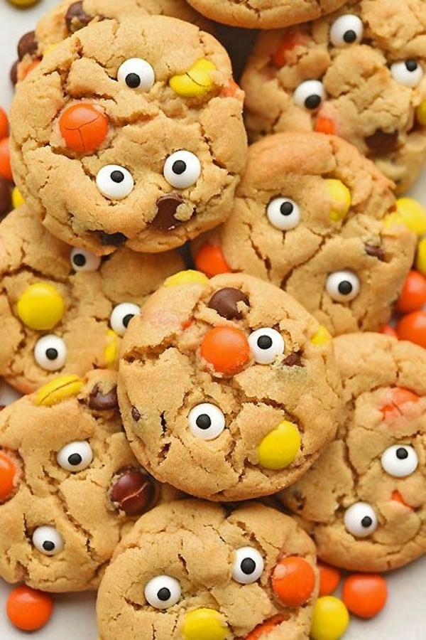 Halloween Essen Kinder Snacks für Halloween Fingerfood Kekse backen