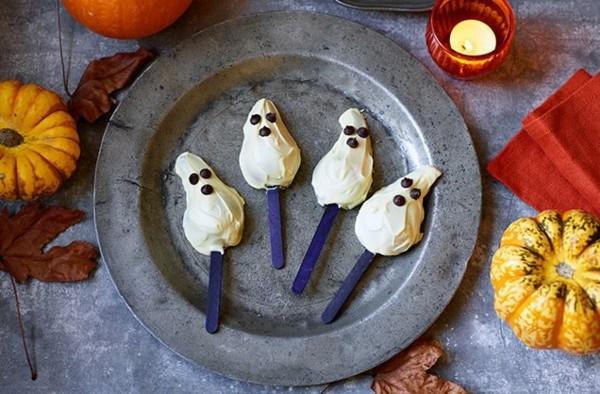 Halloween Essen Kinder Snacks für Halloween Fingerfood Spieße