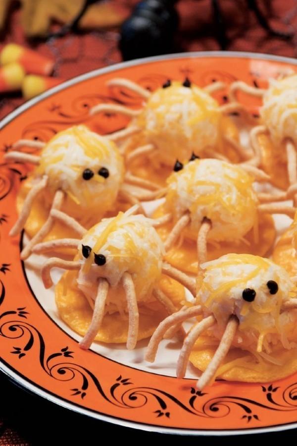 Halloween Essen Kinder Snacks für Halloween Fingerfood essbare Spinnen