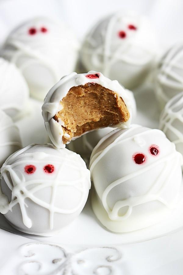 Halloween Essen Kinder Snacks für Halloween Fingerfood hausgemachte Pralinen