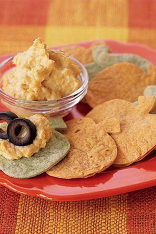 Halloween Essen Kinder gesunde Snacks Fingerfood kalt hausgemachter Chips