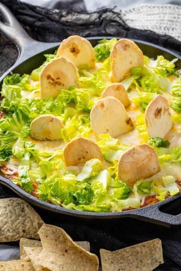 Halloween Essen Kinder gesunde Snacks Salat Chips