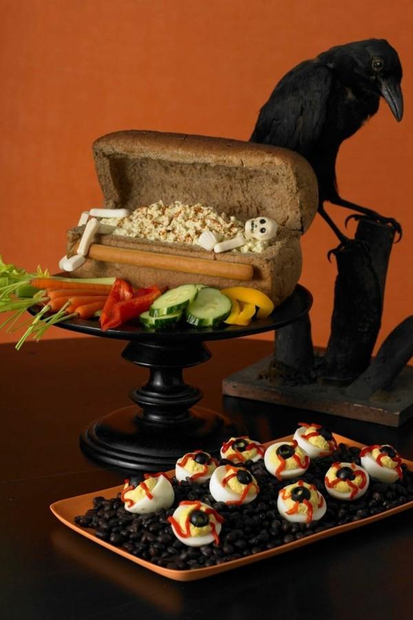 Halloween Snacks für Kinder schnelle Fingerfood Rezepte Halloween Buffet