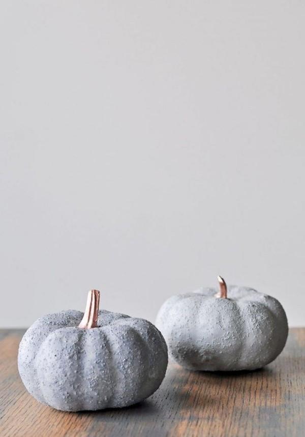Halloween Kürbis - moderne graue Schattierung