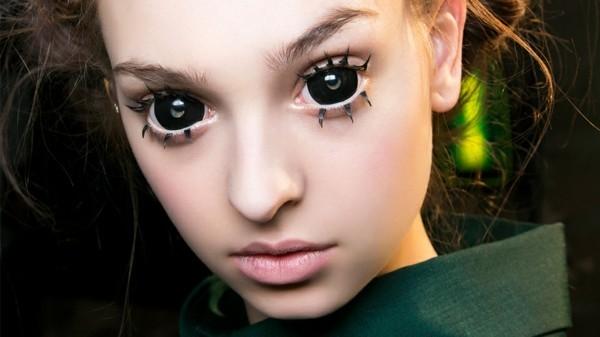 Halloween Kontaktlinsen Tageslinsen dekorative Linsen schwarz