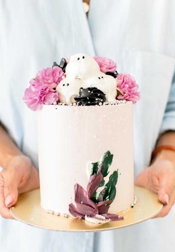 Halloween Kuchen Deko Ideen in Weiß - toll