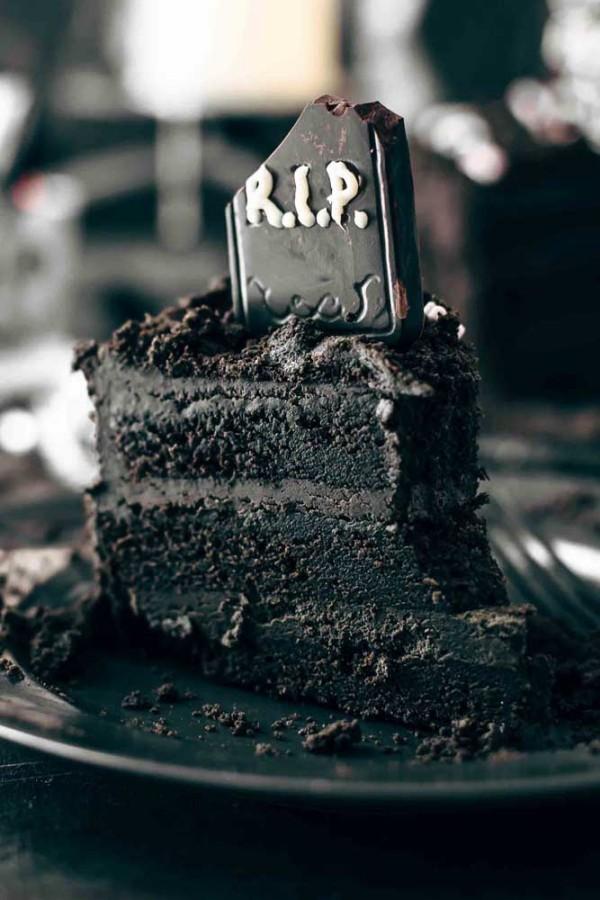 Halloween Kuchen ein leckeres Stück
