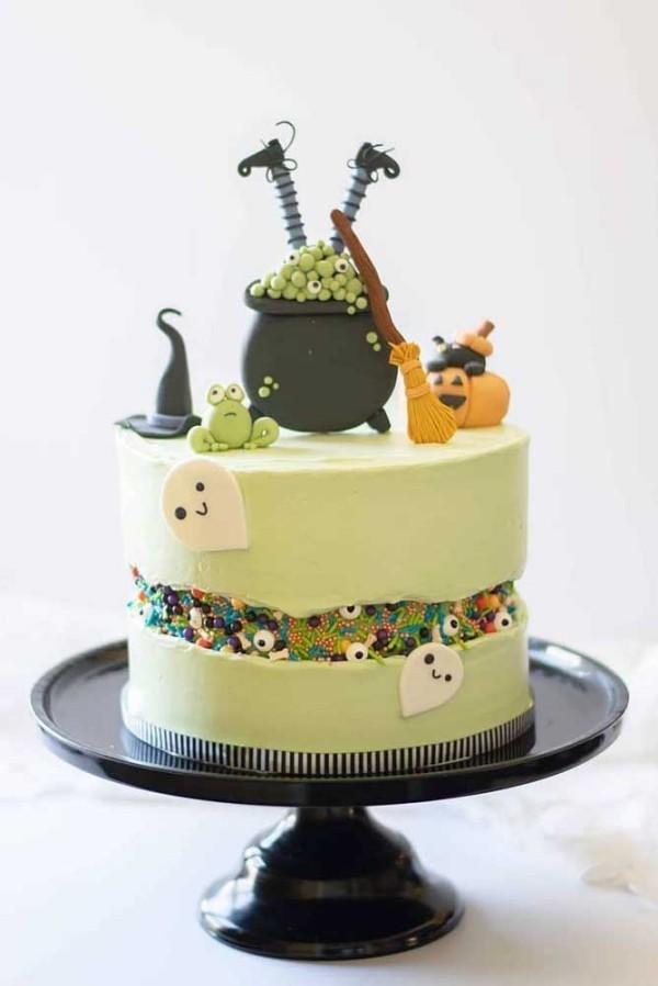 Halloween Kuchen - eine tolle runde Torte