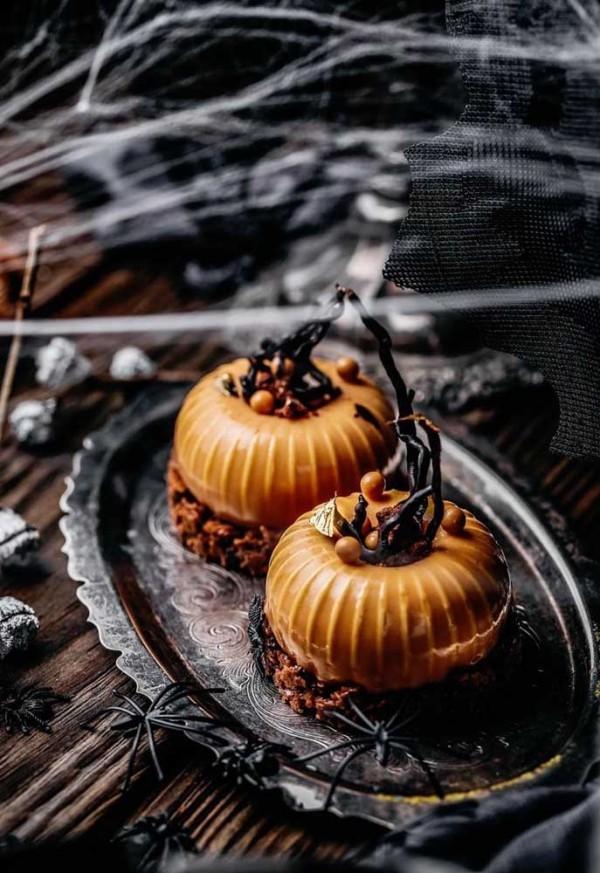 Halloween Kuchen - kleine Kürbisplätzchen