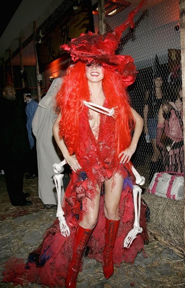 Hexe Heidi Klum Halloween - Kostüm