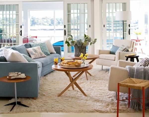 Inneneinrichtung Ideen mit blauen Möbeln