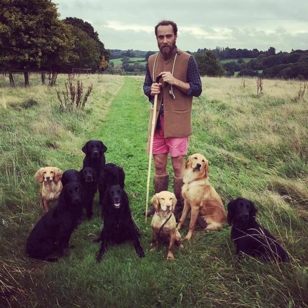 James Middleton ein richtiger Tierfreund viele Hunde Schafe Enten Hühner gern an der frischen Luft
