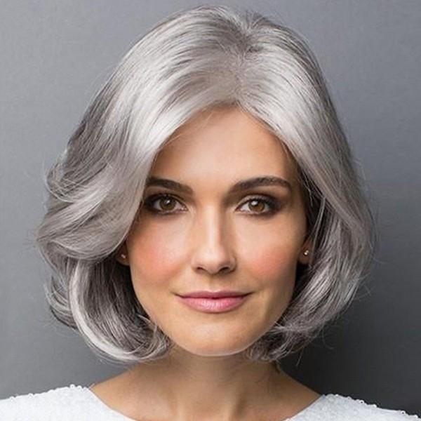 Klassisches Aussehen Haare grau färben