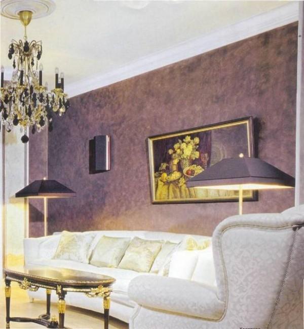 Klassisches Wohnzimmer Wandgesaltung venezianischer putz