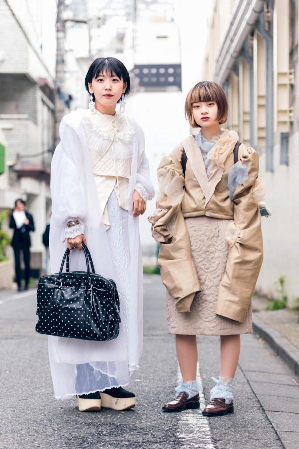 Modetrends Street Fashion - Beige und Weiß - Damen Trends