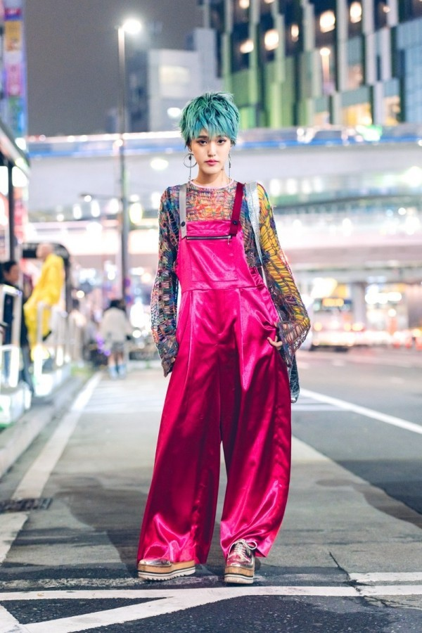 Modetrends Street Fashion - Hosenanzug in Purpur