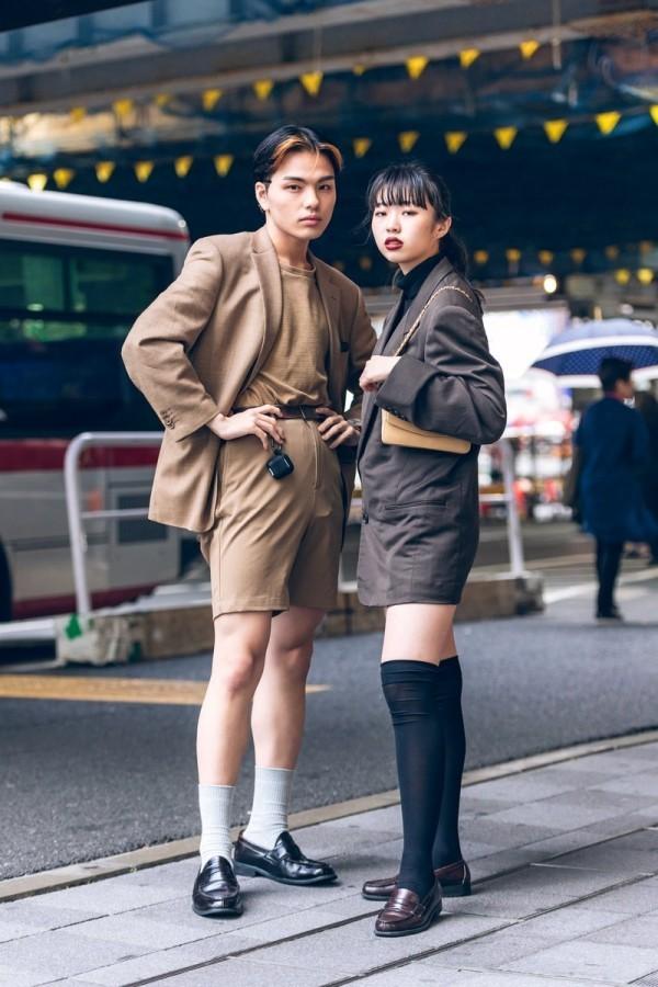 Modetrends Street Fashion - ein schönes Pärchen - tolle Frau - Idee