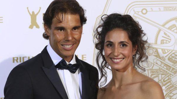 Rafael Nadal mit seiner Freundin