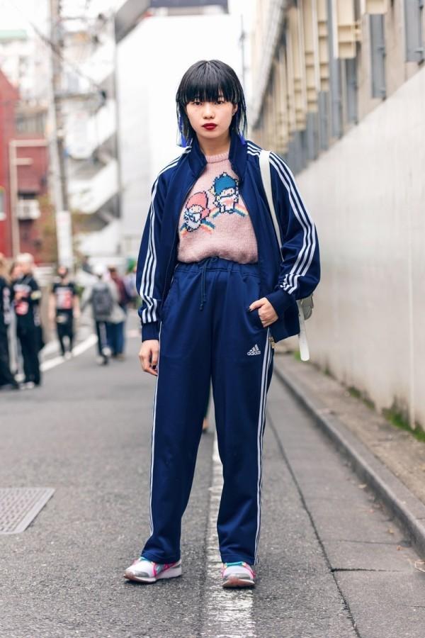 Retro Sportanzug - Adidas - Street Style - Modetrends Street Fashion